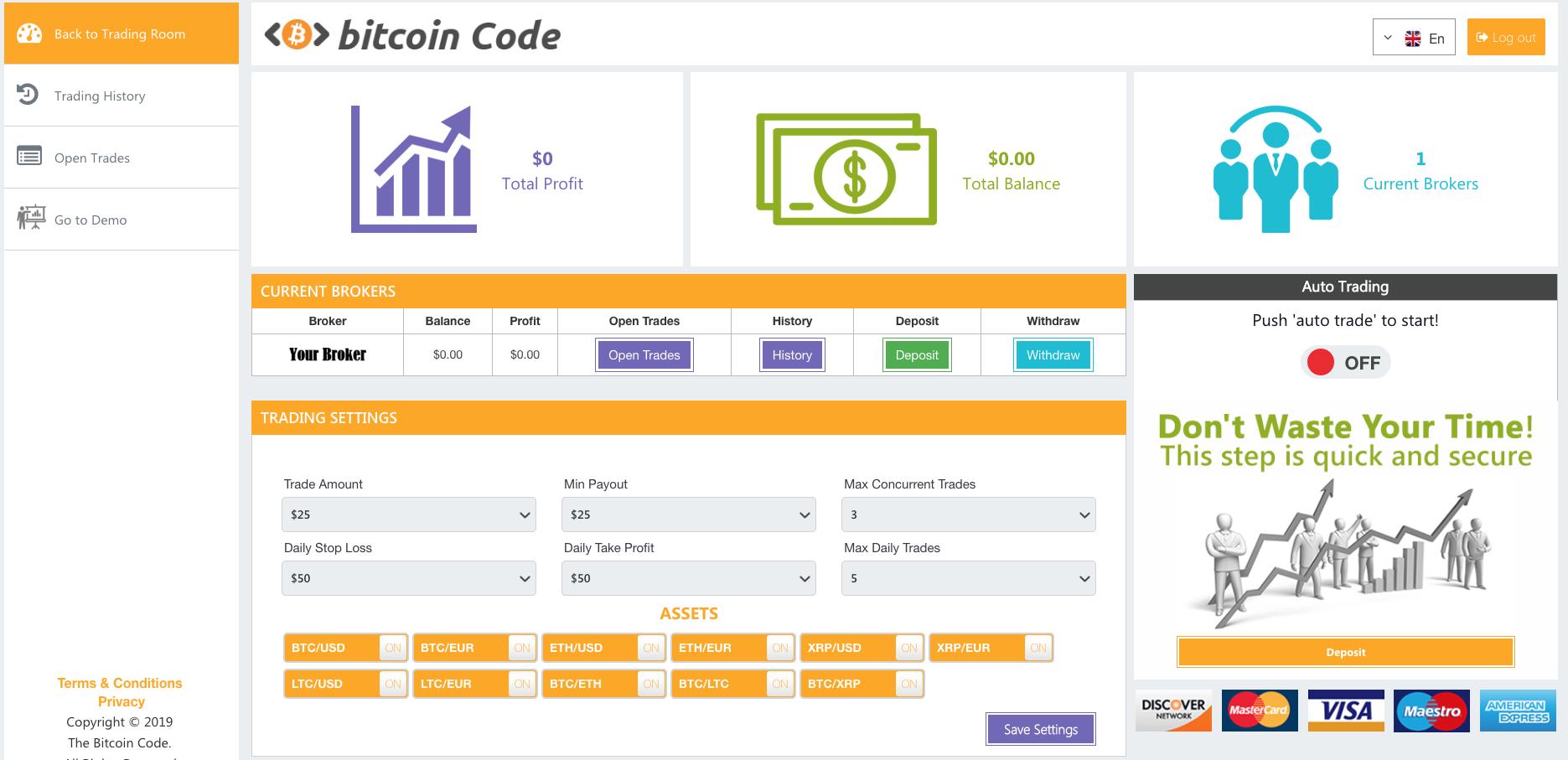 Bitcoin Code Robot-plattform