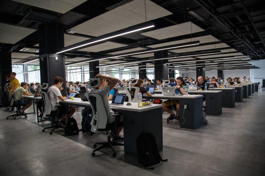 arbetare i ett callcenter