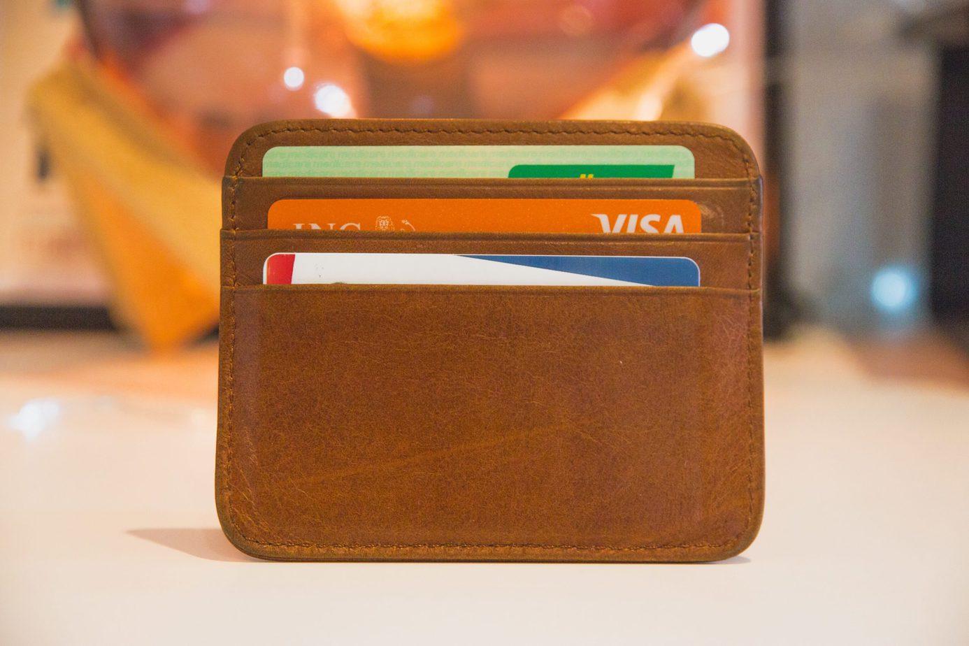 Olika Kreditkort i en wallet